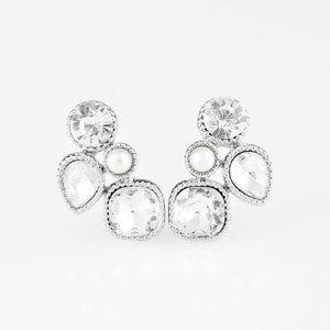 Super Superstar Earrings - White